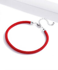 BAMOER Red rope Bracelet With S925 Sterling silver buckle With Best blessing