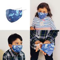 """Kinder Stoffmaske  Mund-Nasen-Maske """"Ocean"""" 100 % Baumwolle für Mädchen & Jungen"""