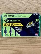 """Greenlee Kwik Stepper Step Bit Kit 1/8"""" to 1-1/8"""" 3.2mm-28.6mm 3 Pcs Metal 35884"""