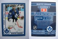 2015 SCA Martin Gerber Toronto Maple Leafs goalie never issued produced #d/10
