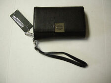 Harley-Davidson Ladies Short Phone Wristlet Wallet W/Bar & Shield Outline Logo