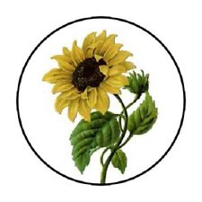 48 Sunflower!!!  ENVELOPE SEALS LABELS STICKERS 1.2