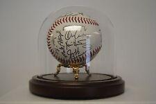 "4"" Round Baseball Display Dome w/ P. Ann Ball Riser(Walnut base)#combo333/420850"