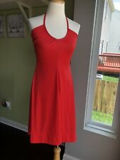 New listing Vintage Jcpenny Disco Red Halter top 70's Dress Xs/S