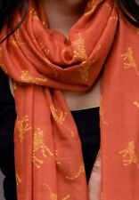 WOMEN'S LADIES ORANGE TIGER ANIMAL PRINT SCARF WRAP AUTUMN WINTER GIFT