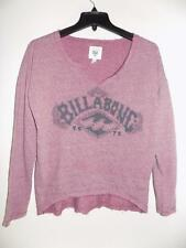 WT6500 Billabong Women's Purple Print Free Time Fleece Top NWT Size S MSRP $39
