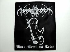 NARGAROTH BLACK METAL IST KRIEG  EMBROIDERED PATCH