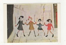Children Playing LS Lowry Art Postcard 705a