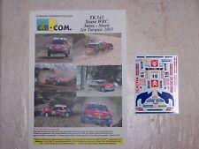 """DECALS C.B.COM. 1/43ème Xsara WRC """"Sainz-Marti"""" 1er Turquie 2003"""