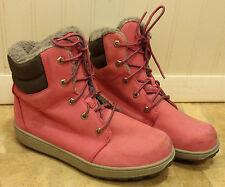 "TIMBERLAND 6"" Pink Leather Premium Grade School Boots 3191R Juniors / Womens 5.5"