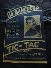 Partition La Ranchera Georges Besson Tic Tac