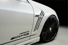 2 pcs Powered by AMG Sport Logo Stripes Mercedes Decal Sticker decoration