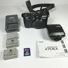 Canon PowerShot G11 3632B00 10MP Compact Digital Camera & 270EX Speedlite Bundle