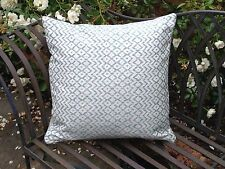 Sanderson cushion cover - woven azure & natural