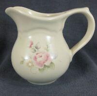 Pfaltzgraff Tea Rose Creamer Pitcher 11 oz Stoneware