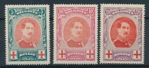 [4223] Belgium 1915 red cross good set very fine MH stamps value $120