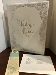 Vintage C. R. Gibson Co Embossed Wedding  Memories Book 1955 Bookmark Stickers
