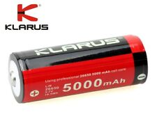 New Klarus 26650 5000mAh 3.7V Protected Rechargeable Battery Cell