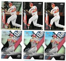 Mike Trout 2020 Topps Chrome REFRACTOR + Base Card (2) + DOD (3)
