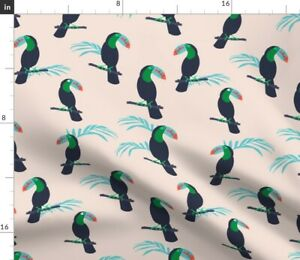 Toucan Pink Tropic Tropical Bird Spoonflower Fabric by the Yard