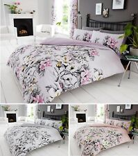 Eden Floral Duvet Cover Quilt Cover Bedding Set Single Double King Flowers