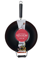 NEW Ken Hom Carbon Steel 36cm Non-Stick Wok