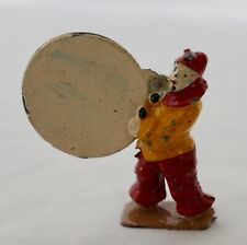 CHARBENS Lead Toy CIRCUS CLOWN With HOOP, often seen w/ Britains Circus Figures