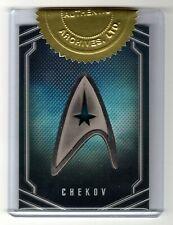 2017 Star Trek Beyond UB6A Chekov Uniform Command Badge Archive Box Exclusive