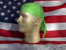 Neon Green Durag Doo Rag Skull Cap Headwrap Bikers Paintball Sports Bandanna