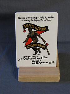 Roberto Clemente Pittsburgh Pirates 1994 Statue Unveiling Porcelain Card NIB