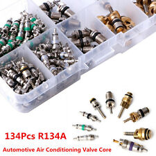 134Pcs A/C R134A Automotive Air Conditioning Valve Core Car Tire Assortment Kit