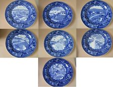 Wedgwood Historical Collector Plate Flow Blue Fort Ticonderoga Pick One