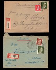 WWII Germany Hitler Head Jumble COLLECTION #2 Mostly Registered Covers Shade  6q
