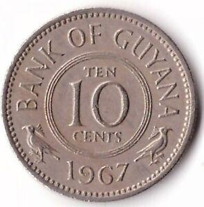 10 Cent 1967 Guyana Coin KM#33
