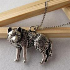 Fashion Retro Vintage Occident Wolf Pendant Long Chain Charms Necklace Jewelry
