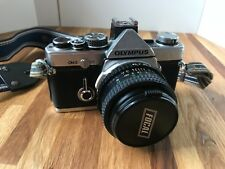 Olympus OM 2 SLR 35mm Camera Bundle - 4 Lenses, Flash, & Much More - Working!