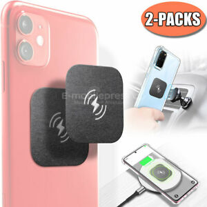 Wireless Metal Plate Adhesive Sticker Replace Magnetic Car Mount Phone Holder 2x