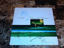 a-ha Rare Authentic Band Signed Scoundrel Days Vinyl LP Morten Harket Pal Mags