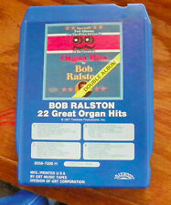 Bob Ralston 22 Great Organ Hits  8 Track Cartridge Tape