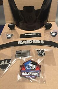 Oakland Raiders Charles Woodson Complete Helmet Upgrade All 3D Bumpers