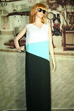 Womens Rafaella dress shift maxi multi color block sleeveless size L