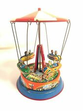 Blomer Schuler B&S Vintage Tin Litho Spin Carnival Rocket Ride Made In W Germany