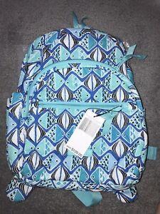 Vera Bradley Essential Compact Backpack Go Fish Blue NWT Retails $109