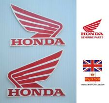 GENUINE HONDA TANK WINGS STICKER DECAL STICKERS RED / WHITE 93mm x 75mm