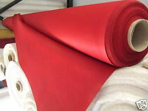 Geranium Red Coloured 100%Cott Sateen Lining -per Metre