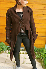 cappotto gilet lana marrone MC PLANET T 38 etichetta di alta qualità val