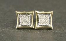 Mens/Ladies Kite Yellow Gold 8 Mm Diamond Stud Earrings