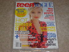 AMANDA SEYFRIED June July 2010 TEEN VOGUE MAGAZINE NEW * PARTIALLY SEALED