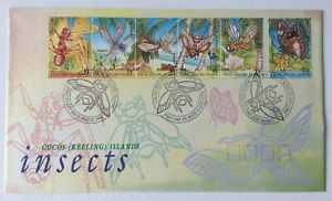 CK89) Cocos Keeling Island 1995 Insects FDC
