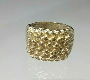 9ct Gold Shot or Keeper Ring Mans/Gents Not Filled/Plated size SV